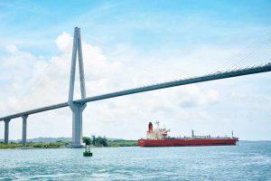 参观巴拿马第三座跨运河大桥 大西洋大桥